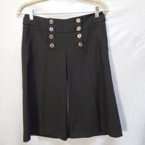 The Limited Drew Fit Sailer Style Culotte Black